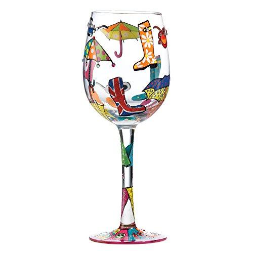 Lolita copa de vino de cristal, vidrio, multicolor, 8.5 x 8.5 x 22.5 c