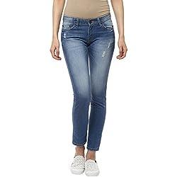American Crew Women's Slim Fit Light Blue Jeans - 32 (ACWJN306-32)
