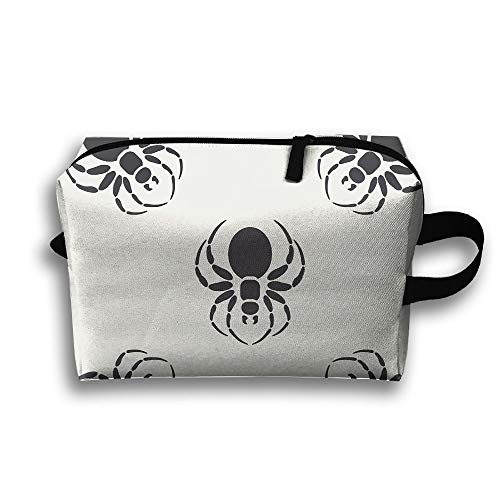 Travel Toiletries Bag Spider Print Phone Coin Cosmetic Pouch Tote Multifunction Organizer Storage Bag - Kelly Stil Tote