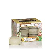 Yankee Candle Tea Light Candela, Christmas Cookie, Confezione da 12 Pezzi