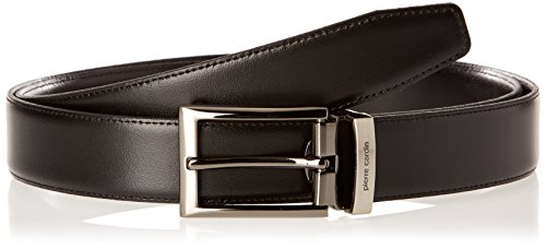 Pierre Cardin C069143902, Cintura Uomo, Nero, FR: 110 cm