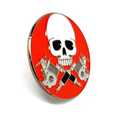 Union Jack Pistolen (Shopiyal Anstecknadel mit Totenkopf und Pistolen, Metall, Emaille zum Sammeln von Kleidung, Hemd, Jacken, Mäntel, Krawatte, Hüte, Taschen, Rucksäcke)