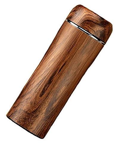 ACMEDE - Thermos Bouteille Isotherme De Café Thé Mug Pour Sport Voyage Randonnée En Acier Inoxydable Vacuum Flask 300ML - Marron 2