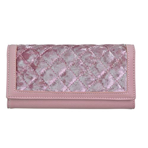 Chengduaijoer Weiche PU-Leder-Trifold-Multi-Kartenhalter-Geldbörse, Elegante Clutch-Lange Geldbörse für Frauen (Color : Pink)