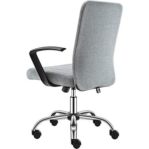 LBSX Schreibtischstuhl, Bürostuhl Schreibtisch Ergonomischer drehbarer Executive-Computer mit verstellbarer Arbeitsfläche und hoher Rückenlehne mit Rückenstütze zu Hause, höhenverstellbar, super trage -