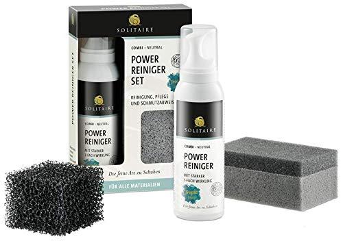 Solitaire Power Reiniger Set für Schuhe - geeignet für alle Materialien