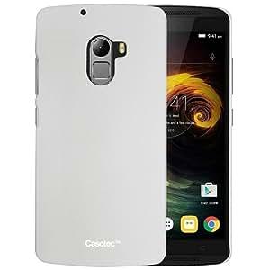 Casotec Ultra Slim Hard Shell Back Case Cover for Lenovo K4 Note - White