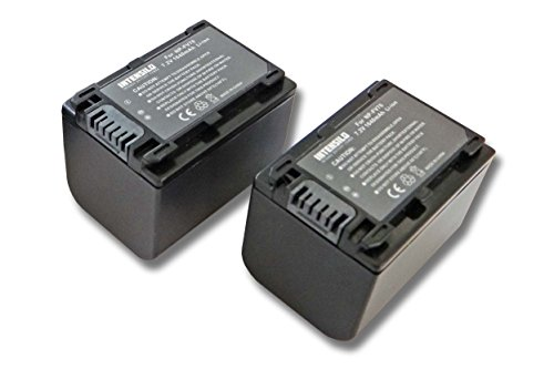 INTENSILO 2X Li-Ion batería 1640mAh (7.2V) para cámara de Video, videocámara Sony HDR-CX110E, HDR-CX115E, HDR-CX116E por NP-FV70, NP-FV90