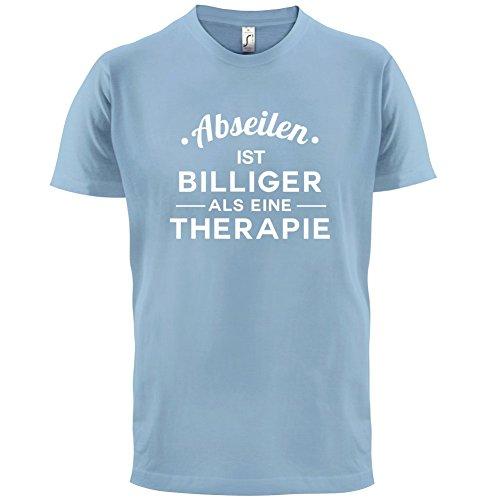 Abseilen ist billiger als eine Therapie - Herren T-Shirt - 13 Farben Himmelblau