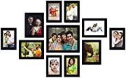 Amazon Brand - Solimo Collage Photo Frames (Set of 11, Wall Hanging),Black