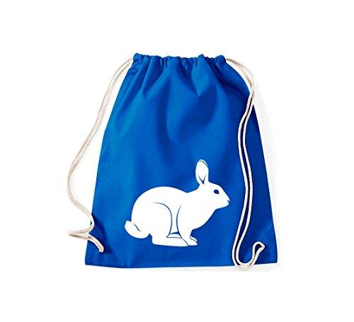 Shirtstown, Sac de gym Animaux Lapin, rammler, lapin Bleu - Bleu roi