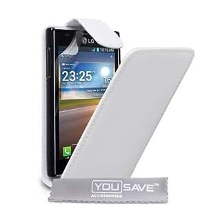 Yousave Accessories lg-fa01-z115Klappetui aus PU-Leder für LG Optimus L5E610weiß