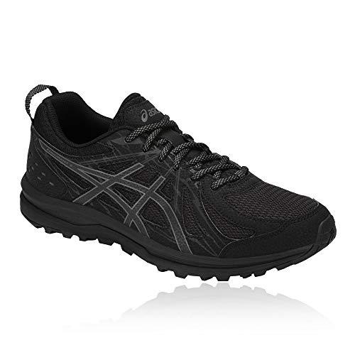 Asics Frequent Trail, Zapatillas de Running para Asfalto para Hombre, Gris (Carbon/Red Alert 021), 43.5 EU