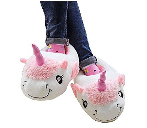 KiKa Monkey Chaussures en peluche en unicornies avec des tailles européennes: 36 - 41 Bleu-Nouveau