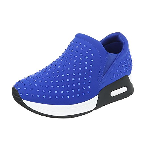 Ital-Design - Low-top Donna Blau