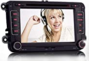 iFreGo 7 Zoll 2 Din Autoradio GPS RDS USB SD Bluetooth Für VW Tiguan EOS Caddy Polo Jetta Golf