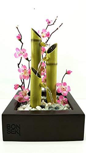 Bonseki® fontana zen da interno linea square. artigianale, personalizzabile, made in italy.