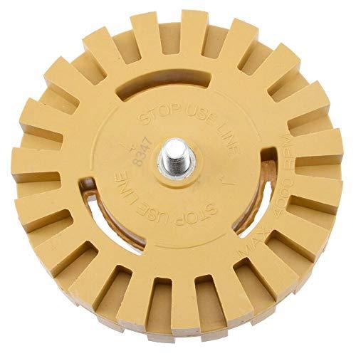 ZHIXX MALL Folienradierer Radierer Scheibenförmig mit Schaft,100 mm Zierfolien, Entfernen Aufkleber und Kleberückstände entfernen