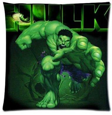 rs grün Marvel Superheld Hulk Kissen Hülle (ohne Einsatz) tolle Geschenke angenehmen Bezug HD beiden Seiten Druck, 18x18inch (Superhelden-dekor)