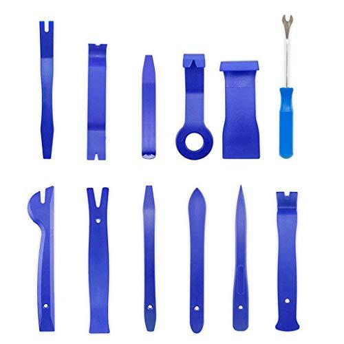 Ishua Kit per la rimozione Automatica del Blu di 12 Pezzi, Kit di cacciaviti universali per Sacchi Auto-sigillanti per l'installazione dell'autoradio