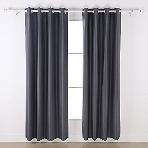 Deconovo Dupioni Faux Silk Thermal Insulated Top Grommet Blackout Curtains for Children 46 x 72 (Isolato Sandwich)