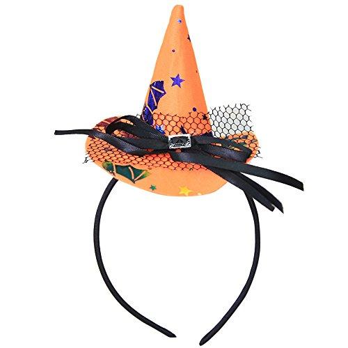 band Schwarz Hexe Haarband Halloween Maske Stirnbänder Für Frauen Karneval Party Dress Up Bandana Kopfband Cosplay Festliche Kostüm Maskerade Haarschmuck ()