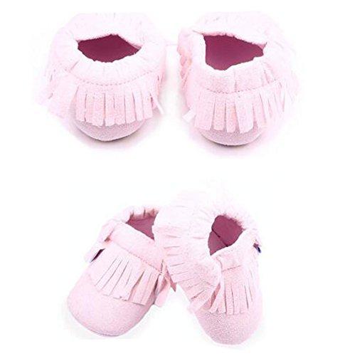 Rosa Únicos ® Estrela Baby Rosa Criança Meninos infantil Suaves Sorte Da De 11 Centímetros Meninas Couro Yuan borla Sapatos Sapatos wq4UnCS