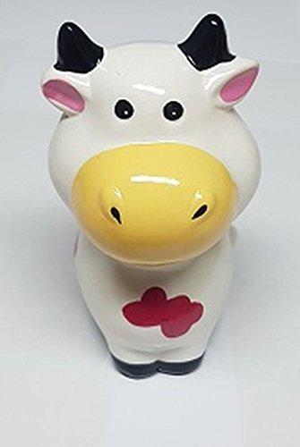 Hucha con forma de Vaca blanca