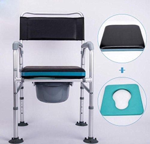 D&F WC-Sitz Toilettenstuhl – Vakuum-Saugnapf WC-Sitz – D & F HöHenverstellbar FüR Alten Mann Und Behinderte Menschen
