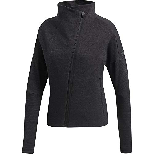 adidas Damen W Htr Sweatshirt, Black/Grey Five, XS Preisvergleich