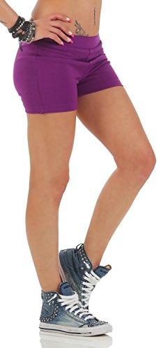 Gennadi Hoppe Pantalons chauds pour femmes Hotpants pùrpura