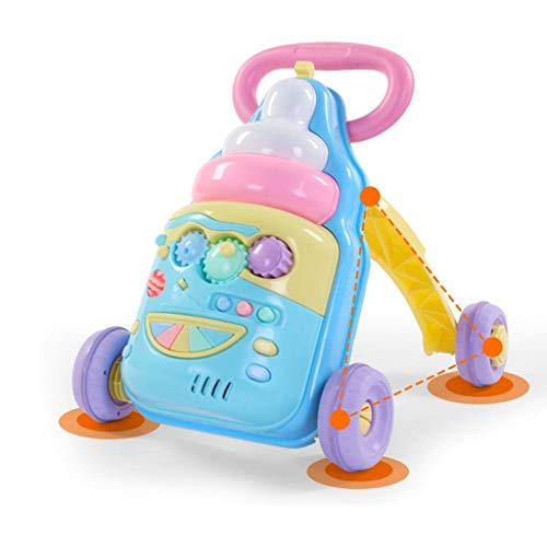 AGGF Baby Walker,2-In-1 Verwendung Als Push-Along-Spielzeug Erste Schritte Baby Walker Für 1-3 Jahre, Frühe Entwicklung Aktivität Mit Musik Hochwertige ABS-Spielzeug Und Zubehör