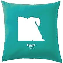 """égypte Silhouette Coussin–41x 41CM (40,6cm)–10couleurs, 100 % coton, turquoise, 41 x 41cm (16"""")"""