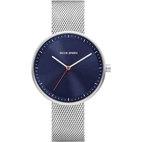 Jacob Jensen Strata 289 Ladies Watch with Blue Dial and Steel Mesh Strap