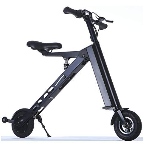 WFTD Bicicleta Eléctrica Portátil De Tres Ruedas, Triciclo Eléctrico con Control Remoto A Prueba De Agua Plegable De 8 Pulgadas, Resistencia De 30 Km para Viajes Y Ocio