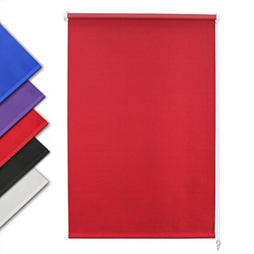 Auralum tende da sole a rullo per esterno tende impermeabile (larg.x lung.) 140 x 175 cm rossa