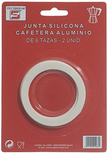Distribuidora Ersa Junta de Cafetera, Silicona, Blanco, 16,5 x 11,5 x 1 cm
