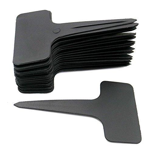 KINGLAKE 100 STK T Typ Plastik Pflanzenschilder Schwarz zum Beschriften Pflanzenstecker Wetterfest Stecketiketten Schwarz Etiketten für Pflanzen…