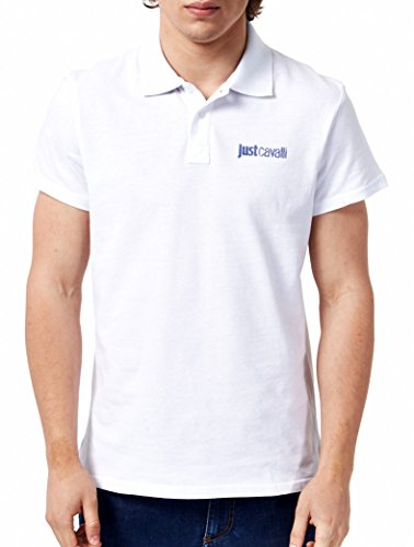 polo-just-cavalli-uomo-men-homme-t-shirt-100-cotone-colletto-contrasto-bianco-xl