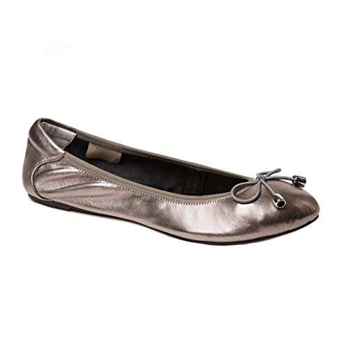 Cocorose London Scarpe Pieghevoli - Sandringham Scarpe da Ballet Donna Argento