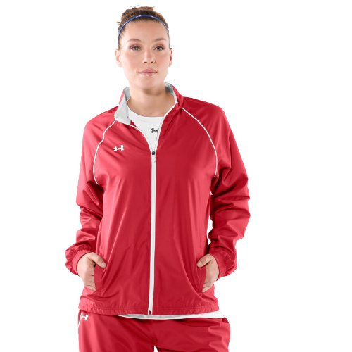 Under Armour Damen Advance Woven Warm up Jacke Groß Rot Woven Warm Up Jacket