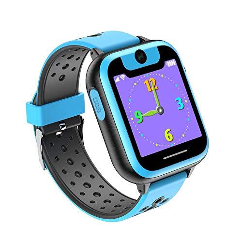 WWVAVA Kinder Smart Phone Watch mit Kamera Spiele Taschenlampe Touchscreen Cool Toys Android Smart Watch für Mädchen Jungen Kinder, blau