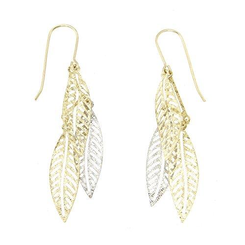 Lucchetta - Joyas Pendientes Mujer 9 quilates (375) Oro Blanco Oro Ama