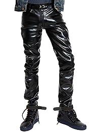 Bockle® G-Zip Faux Kunstlederhose mit durchgehendem Reißverschluss
