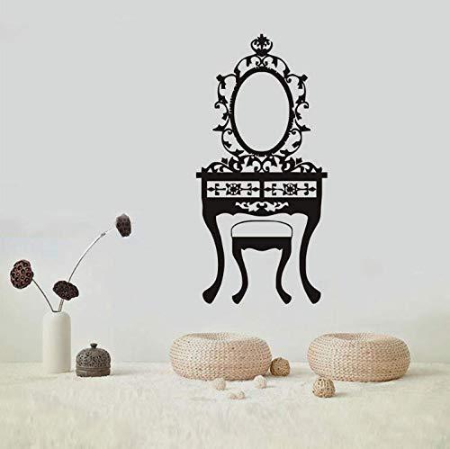 limicry Spiegel Wandaufkleber Abziehbilder Schlafzimmer Schönheitssalon Kunst Wandbilder Schminktisch Vinyl Abnehmbare wasserdichte Home Deco 49 cm X 110 cm -