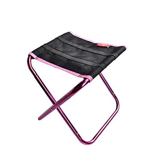 EODUDO-S Leichtgewicht Kompakt Klapp Camping Hocker Stühle Leichte Aluminium Material Mini Stuhl Tragbare Outdoor Hocker für Angeln Wandern Camping Picknick Atmungsaktiv Bequem (Mini-falte-stuhl)