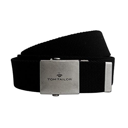Unisex-Gürtel von Tom Tailor - leichter Damengürtel Herrengürtel Unisex-Belt aus stabilem Nylongewebe mit Metall Klemmverschluß ( Schwarz ) - präsentiert von ZMOKA® (Handtasche Braune Echte Leder)