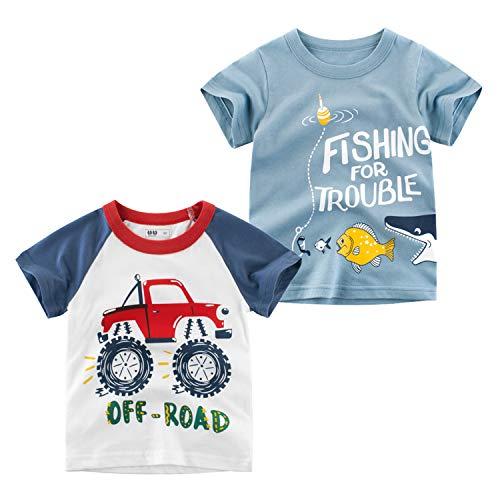 3fb9f11dd Oyoden Camisetas Manga Corta Niños Algodón Blusa Tops Bebé Verano 1-8 Años