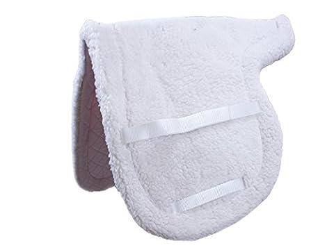 Derby Originals Comfort Quilt Close Contact Fleece English Saddle Pad, White, 21