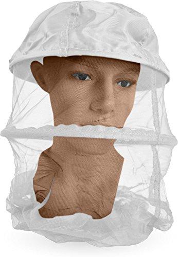 normani Moskito-Kopfnetz mit Stoffeinsatz und Metallring Mozzie Farbe Weiß